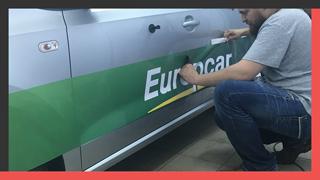 Брендирование корпоративного транспорта компании «Europcar»